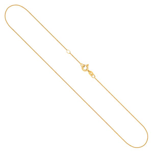 Ankerkette flach mit Zwischenöse in Gelbgold