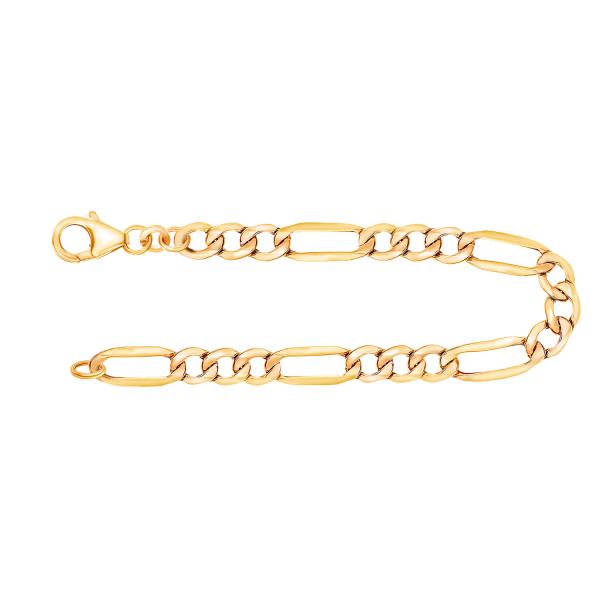Armband Figarokette hohl Gelbgold
