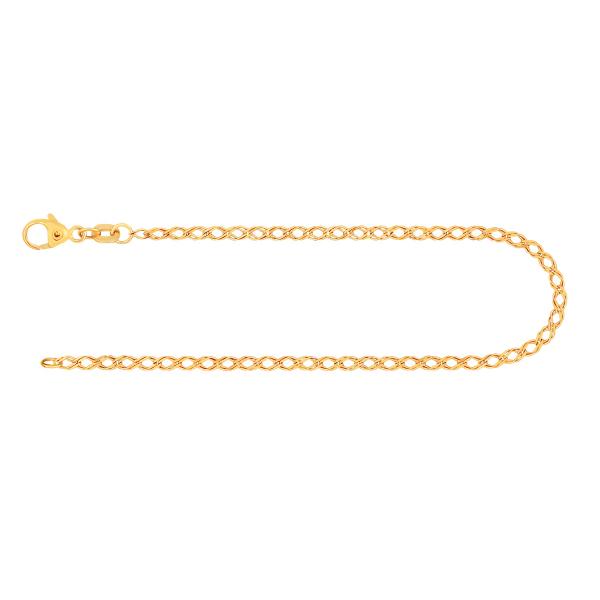 Armband Zwillingspanzerkette Gelbgold