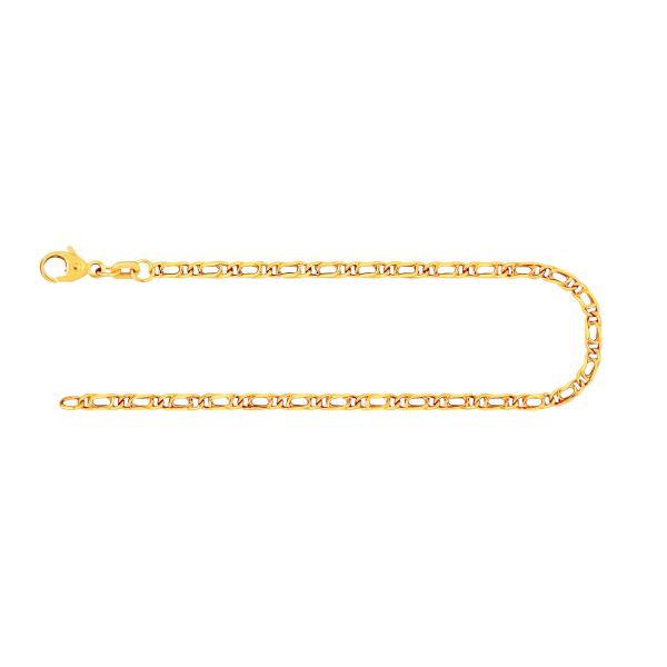 Armband Tigeraugenkette hohl Gelbgold