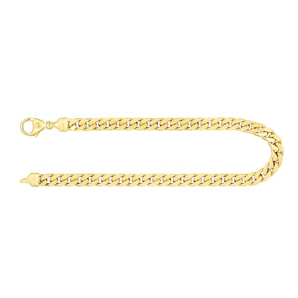 Armband Panzerkette 4-seitig diamantiert Gelbgold