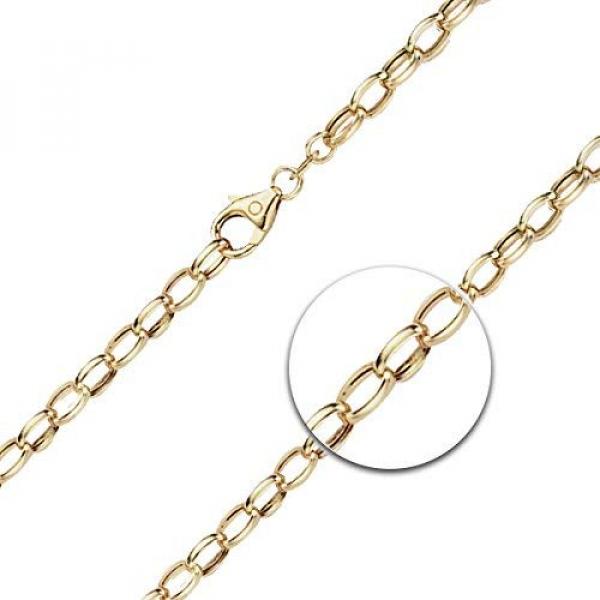 Armband Erbskette hohl Gelbgold