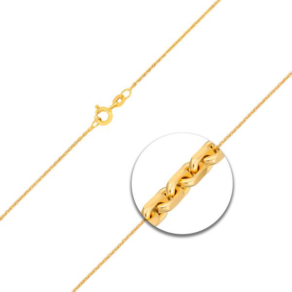 Ankerkette diamantiert Gelbgold