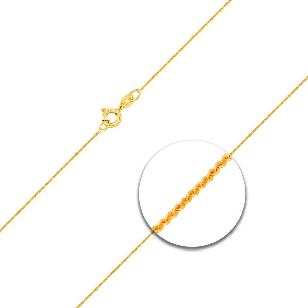 Ankerkette flach Gelbgold