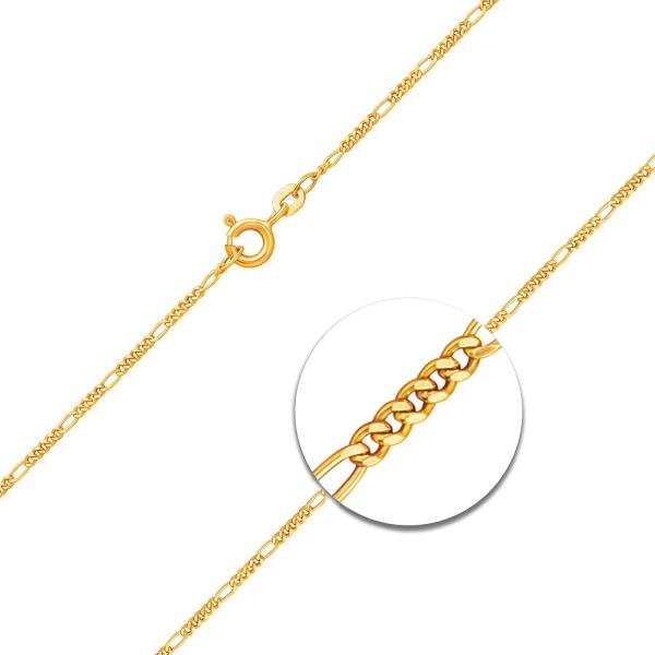 Figarokette diamantiert Gelbgold