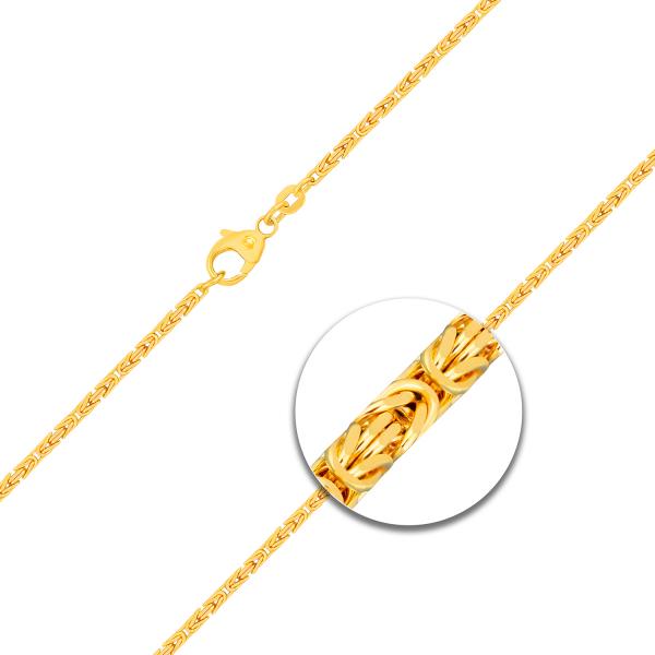 Armband Königskette Gelbgold