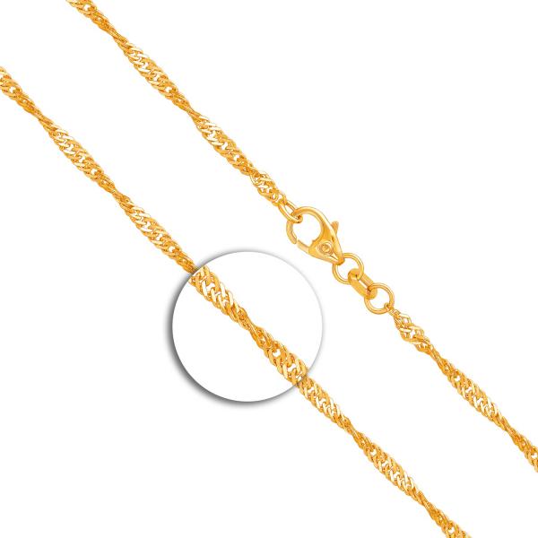 Armband Singapurkette Gelbgold