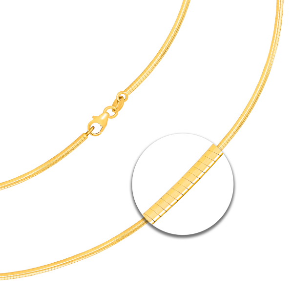 Tondakette oval Gelbgold