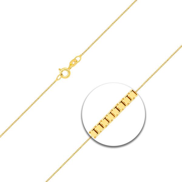 Venezianerkette mit Zwischenöse Gelbgold