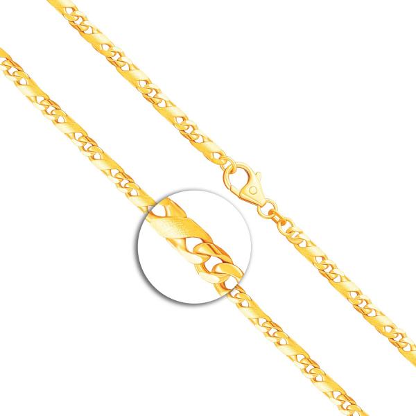 Armband Dollarkette Bicolor Gelbgold / Weißgold