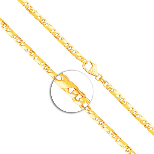 Armband Dollarkette Gelbgold