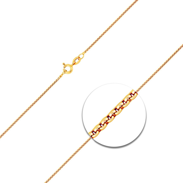 Venezianerkette rund geschlagen Gelbgold