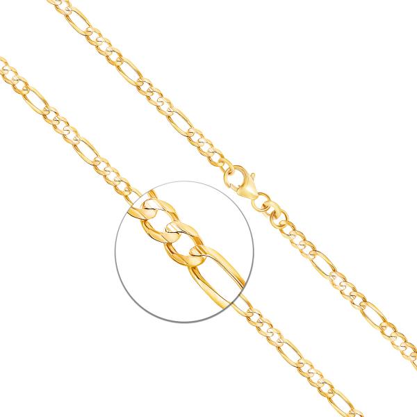 Armband Figarokette Gelbgold
