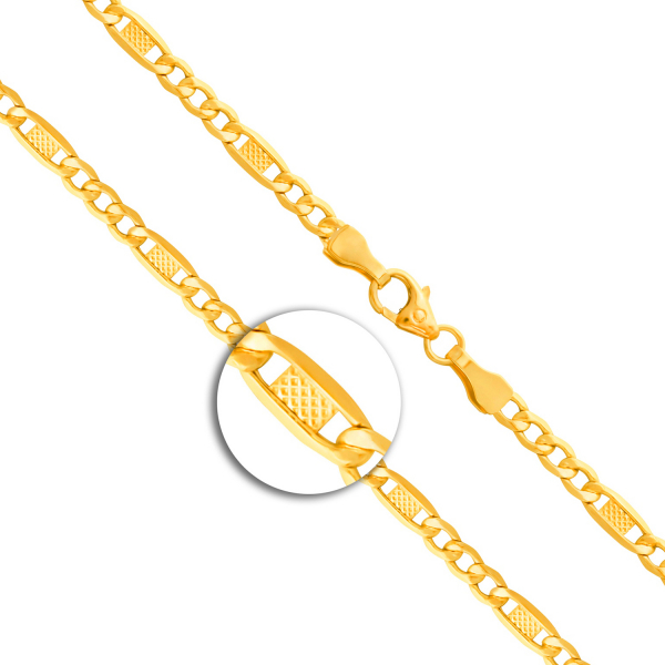 Armband Fantasiekette Gelbgold