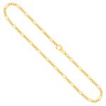 Figarokette diamantiert Gliederung 3+1 Gelbgold