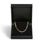 Armband Figarokette diamantiert Gliederung 5+1 Gelbgold