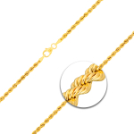 Armband Kordelkette hohl Gelbgold