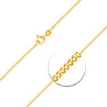 Venezianerkette mit Zwischenöse Weißgold