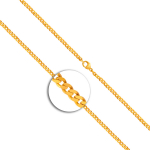 Armband Panzerkette flach Gelbgold
