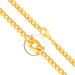 Armband mit Gravurplatte und Engel im Kreis Panzerkette flach Gelbgold