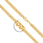 Armband mit Gravurplatte und Engel im Herz Panzerkette flach Gelbgold