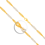 Armband Singapurkette Bicolor Gelbgold / Weißgold