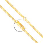 Armband Dollarkette satiniert Gelbgold