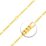 Figarokette diamantiert Gliederung 5+1 Gelbgold
