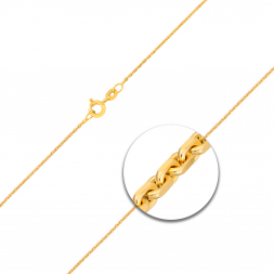 Ankerkette diamantiert Gelbgold