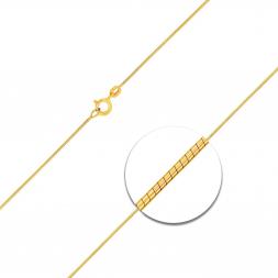 Schlangenkette diamantiert Gelbgold
