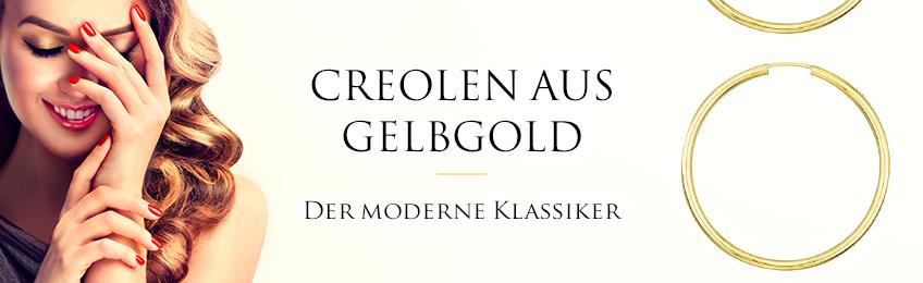 Creolen aus Gelbgold